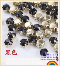 New fashion abaya black crystal