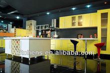Customized Crystal Steel Board Kitchen Furniture(AGK-076)