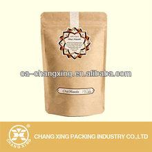 resealable bag zipper paper bag for chia masala packaging