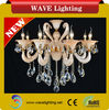 WL-19/8 CE 8 lights glass tube k9 crystal adjustable candle drop