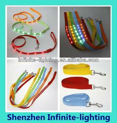 Customize led dog leash with good quality/Flexible LED Dog Leash / led glowing dog leash