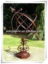 Outdoor ornaments bronze abstract globe sculpture
