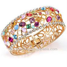 Wide fashion latest design vogue jewelry fake gold bangle bracelet