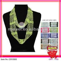 SYZ003 bead crochet scarf