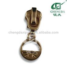 all kinds of plating ring puller brass slider for zipper