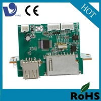 vire usb sd fm mp3 pcb print circuit board with led display