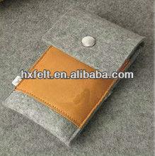 Eco fashion plain felt phone case