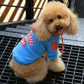 de inverno de algodão verde exército moletom adorável cão macho roupas