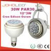 Factory sales par30 led spotlight cree/edison/osram led par30 e27 led par30 35w