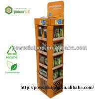 hot sale supermarket corrugated cardboard display pen case