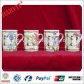 raros vitoriana rosa azul microondas café expresso e cappuccino caneca copo bonito projeto da flor