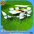 Mesa plegable para exteriores, mesa plástica, muebles plásticos XYM-T001