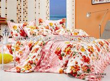 3pcs or 4pcs flower print comforter set !Queen or king size /comfortable bedsheet set