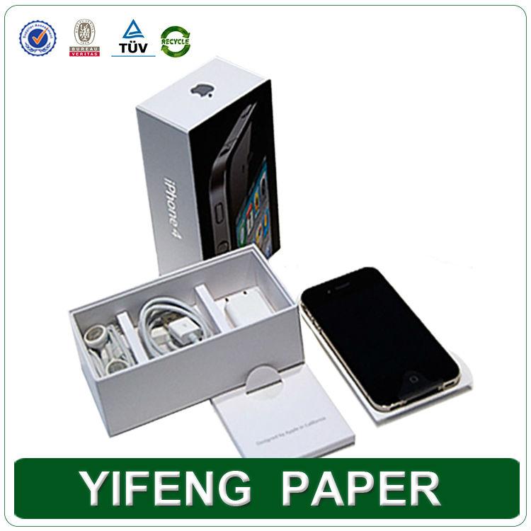 Custom printed corrugated cardboard luxury carton iphone packaging box