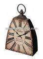 """Superbe en détresse en métal horloge de table en forme comme un poids de fer 8.7"""" x3.1"""" x11.8"""""""