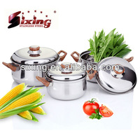 6PCS Stainless Steel Cookware For Induction Cooker/Kitchenware