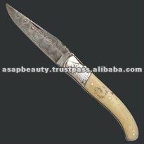 Damascus Pocket folding Knife
