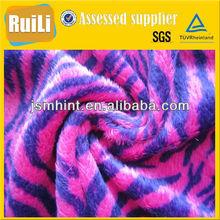 animal printed short pile soft toys fabric