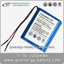 3.7v 18650 li battery pack ICR18650H-3S1P universal rechargeable battery packs