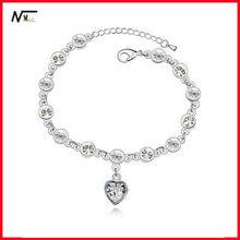 New Arrival Crystal Heart Hot Sale Bracelet Heart Rate Monitor Light Bracelet