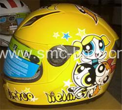 Beautiful kids plastic motorcycle helmet