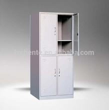 4 Door steel dressing room cabinet furniture