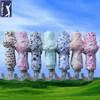 High quality discount fashion 2 section golf umbrella
