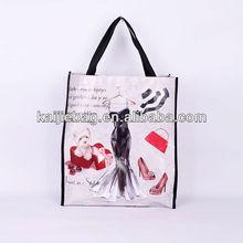 Logo customized digital print plastic shopping bag