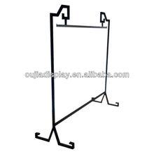 Iron clothes display hanger/metal store fixture/metal shop equipment
