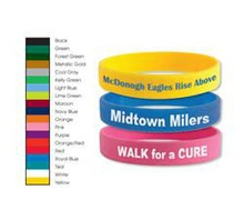 Imprinted Swirl/Segmented Silicone Awareness bracelet/wristband., Price/piece