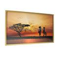 Paisaje enmarcado imágenes/obras de arte imagen/puesta del sol foto enmarcada y las artes