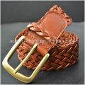 hebilla de latón importados de cuero para hombre cinturones trenzados