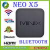 MINIX NEO X5 RK3066 Dual Core Cortex A9 Google Android smart TV Box x5 Wireless wifi Bluetooth USB RJ45 Internet Remote