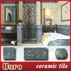 Dark blue vintage brick ceramic antique rustic marble tile