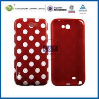 Polka Dots Soft TPU Gel Case Cover Skin for Samsung Galaxy Note 2 N7100