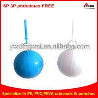 Hot selling fashion pe raincoat ball different ball shapes rain poncho