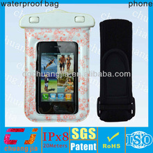 Universal pvc smart phone waterproof case for htc with armband