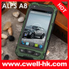 Rugged smart phones 2013 ALPS A8 IP67 Android 4.2 MTK6572 Dual Core Dual SIM Card 5.0MP Camera 4.0 Inch IPS Screen