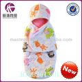 Panos de flanela com chapéu-- cobertor do bebê novo para a série 2013