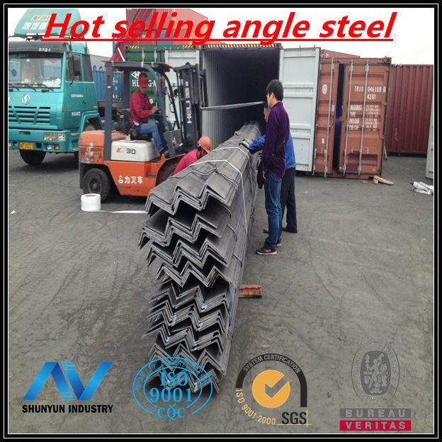 Hot Rolled Carbon angle steel. angle iron. SS400 angle bar