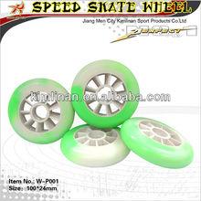 High speed inline skate wheel, roller skate