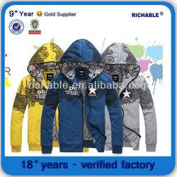plain long sleeve emboridery thick hoodies
