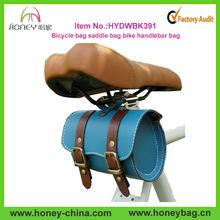 Outdoor Conveninet Stylish Promotion Leather Bike saddle bag
