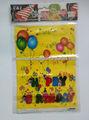 fiesta de cumpleaños feliz globo impreso troquelado mango de plástico de compras bolso del pe