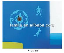 Vinyl Football Wall Sticker Clock