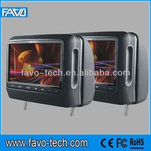 "digital panel touch key 9"" headrest-mounted DVD player"