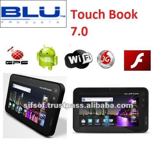 Blu libro táctil 7.0 2.2 androide tablet pc