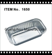 NO.6a and NO.2 take away aluminium foil containers for restaurant with lid.