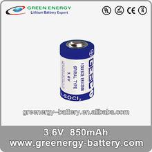 1 2 aa battery 3.6V lithium battery ER14250M 850mah china manufacturer battery