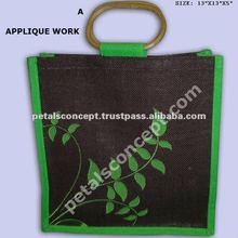 Jute decorative shopping bag